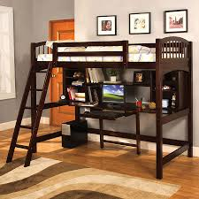 Two Floor Bed shop furniture of america hayden espresso twin study loft bunk bed