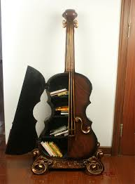 lai sheng personalized ornaments cello shape cd rack bookcase