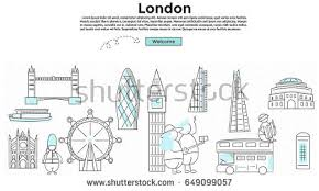 Conceptmodern Doodle Style Travel London Concept Modern Stock Vector 649099057