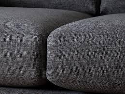 canap tissus gris canapé tissu déhoussable droit fixe