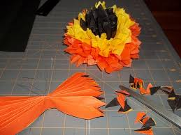 fall tissue paper flowers pegsgottado