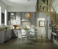 Grey Cabinets In Kitchen Gray Kitchen Cabinets With Floating Shelves Diamond