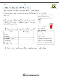 multi step word problems 5th grade printable 5th grade math problems