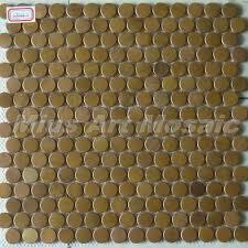 copper penny round tile backsplash http pinterest com pin http www aliexpress com item mius art mosaic circle copper tile in bronze brushed for kitchen