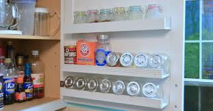 Kitchen Cabinet Door Spice Rack Diy Inside Cabinet Door Storage Shelves Hometalk