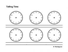 telling time freeology
