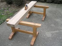 Free Simple Wood Workbench Plans by Best 25 Saw Horses Ideas On Pinterest Wood Shop Organization