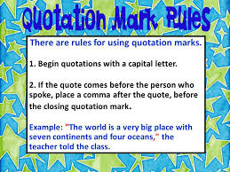 dialogue quotation marks mrs warner u0027s 4th grade classroom