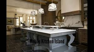 mobile kitchen island large kitchen islands youtube