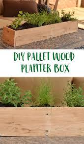 Diy Planter Box by Diy Wood Pallet Planter Box