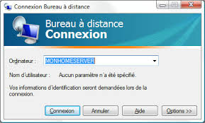 installer bureau à distance mise en marche d un serveur sous windows home server mon home server