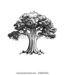 vintage label tree stock vector 154551776