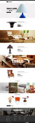 theme furniture wood furniture decoration parallax shopify theme