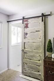 barn door ideas for bathroom master bathroom barn door shades of blue interiors