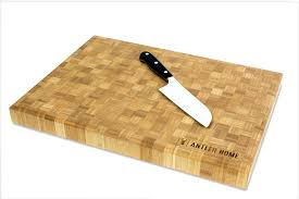 bamboo butcher block cutting board custom engraved antler home bamboo butcher block cutting board
