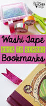 back to washi tape bookmarks one stop teacher shop