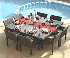 outdoor table that seats 12 12 chair dining room set dining tables for elegant round solid oak