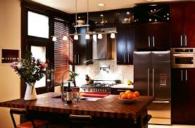 butcher block kitchen islands walnut with cherry butcher block countertop in ny