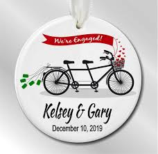 newly engaged personalized christmas ornament we u0027re