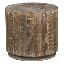 Narrow Accent Table by Cannie Hand Crafted Wood Round Side Table By Kosas Home By Kosas