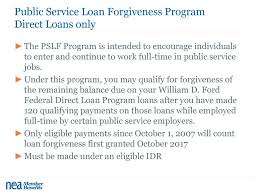 william d ford federal direct loan program nea member benefits brought to you by ppt