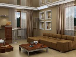 living room contemporary brown sofa curtain brown table hard