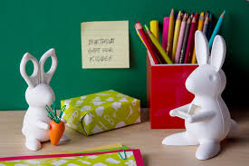 amazon com bunny desk organiser scissors and paper clips holder