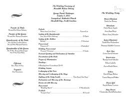 wedding ceremony bulletin template free wedding program templates word zoro blaszczak co