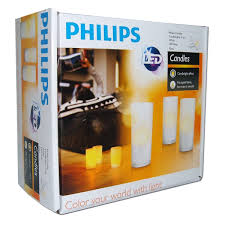 philips imageo rechargeable led candle lights white set of 3