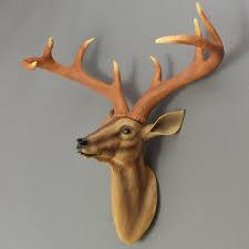 resin deer antler wall mount ornament mantel staging home