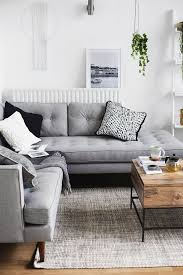 Grey Sofas In Living Room Astounding Small Living Room Decor Soft Green Wall Color White