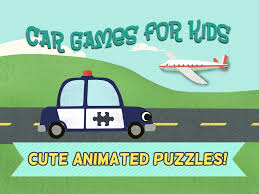 car games for kids fun cartoon airplane police car fire truck