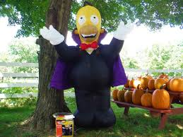 image 8 u0027 vampire homer simpson halloween airblown inflatable