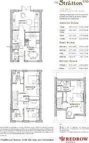 Redrow Oxford Floor Plan 3 Bedroom Terraced House For Sale In The Mallards South Cerney