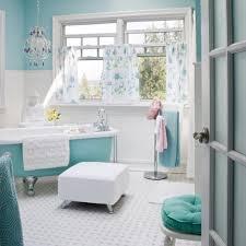 light blue bathroom decor white pendants wall mounted chrome