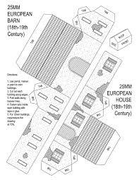 paper christmas house patterns google zoeken little houses