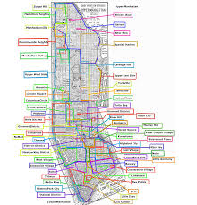 Map Of New York City Neighborhoods by Neighborhoods In Manhattan Nyc 2000 2368 Mapporn