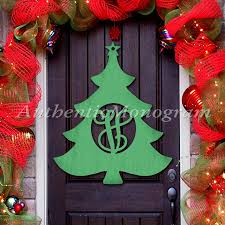 Home Holiday Decor by Wooden Christmas Tree Door Hanger Cristmas Decorations Wooden