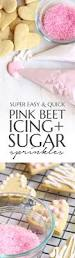 pink beet icing and sugar sprinkles flo and grace