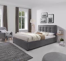 Fabric Platform Bed Duke Upholstered Platform Bed In Grey Fabric By J M