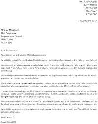 graduate cover letter sample uk