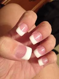 found a new nail salon pink and white but the pink has glitter in
