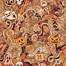 cartoon vector hand drawn doodles on the subject of halloween