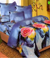 Buy Double Bed Sheets Online India Home Creations Multicolour Poly Cotton 3d Print Floral Double Bed