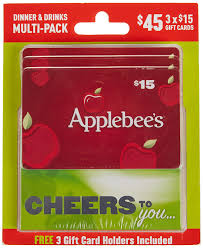 dinner and a gift card applebee s dinner and drinks gift cards multipack of