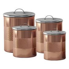 copper canister set kitchen copper canisters wayfair