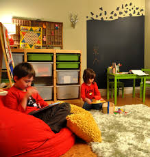 Fun Playroom Ideas For Kids With Creative Wall Doll Rack Design
