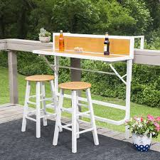 sei mattrone 3 pc balcony bar bistro set white bj u0027s wholesale