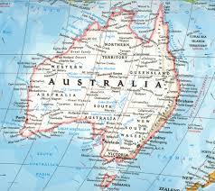 Australia On A World Map by Ask An Australian U2013 Liv Hambrett