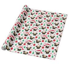 pug wrapping paper christmas pug wrapping paper